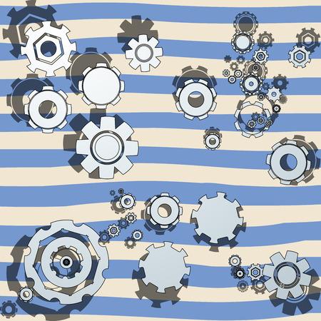 Cartoon concept with cogwheels Vector