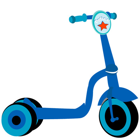 Police toy scooter, isolated object on white background Stock Vector - 6986550