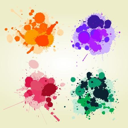 Colored paint splats background, creative design elements Stock Photo - 7038717