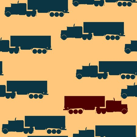 Pattern with big truck silhouette Stock Photo - 7038708