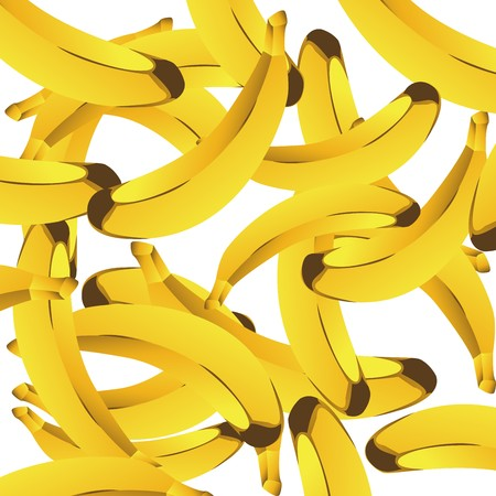 Seamless background with bananas Stock Photo - 7038716