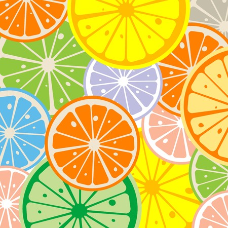 citric: Seamless background with citric slices Stock Photo