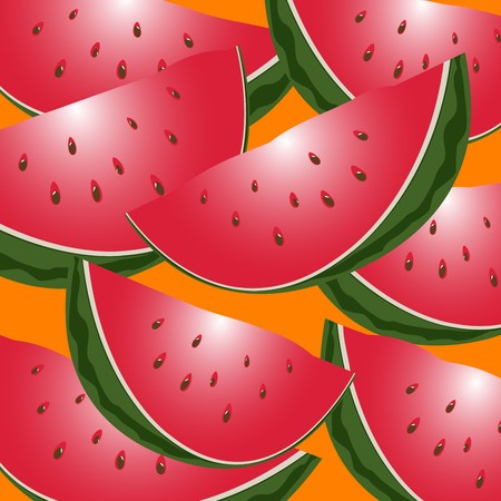 expiring: Seamless watermelon slices background