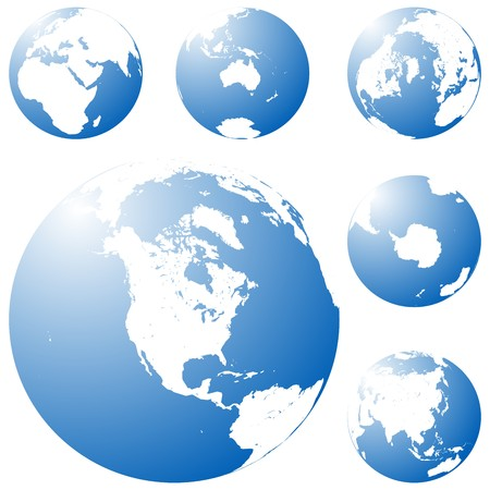 Blue planet in six views photo