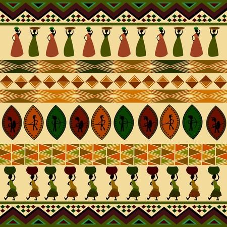 ilustraciones africanas: Patr�n africano tradicional