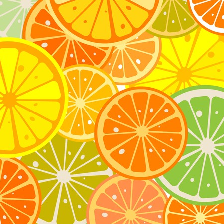 Background with juicy lemon slices Stock Photo - 7101270