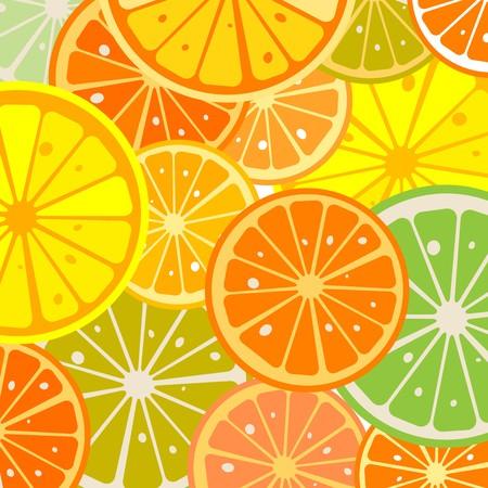 Background with juicy lemon slices Stock Photo - 7101270