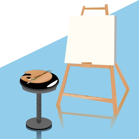 Painting studion accessories, grouped objects Stock Photo - 7101254