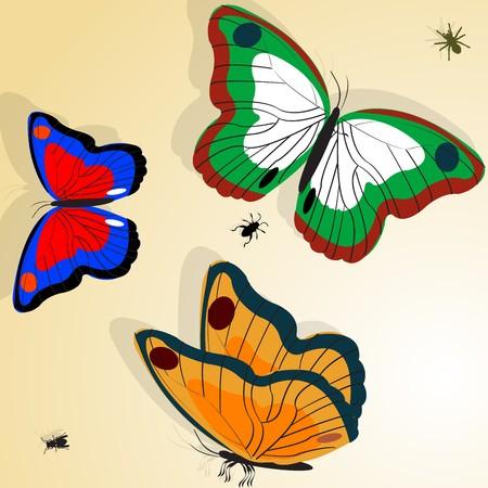 Buterflies illustration Stock Illustration - 7127887