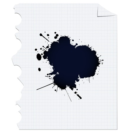 Dark ink spot over paper, design element Stock Photo - 7127885