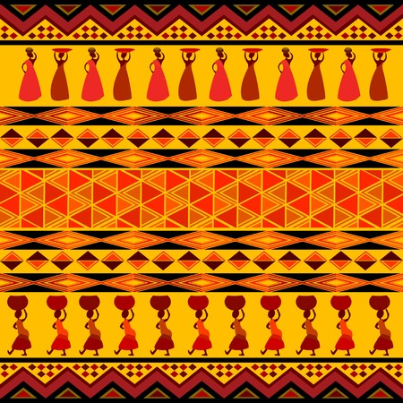 yellow african: Traditional african pattern