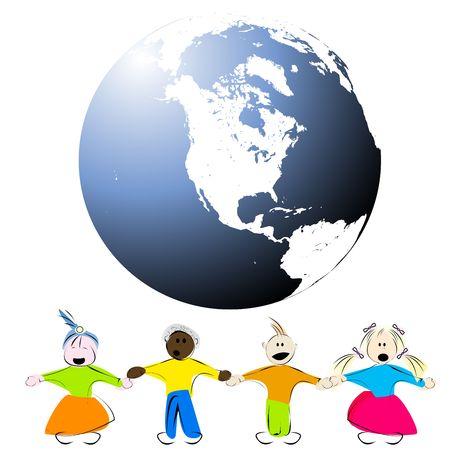 Children arround the globe photo