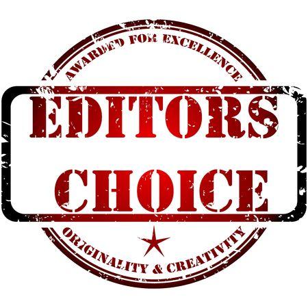 editors: Grunge stamp, editors choice concept