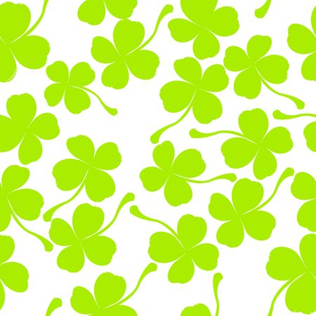 Seamless pattern with clover leaves Stock Photo - 7220993