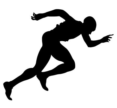 Silhouette of a runner photo