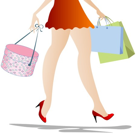 Shopping girl from waist down Stock Photo - 7253289