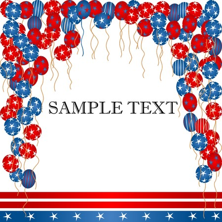 Balloons and banner background for Independence day Stock Photo - 7336223