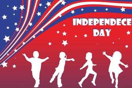 background illustration for Independence day illustration