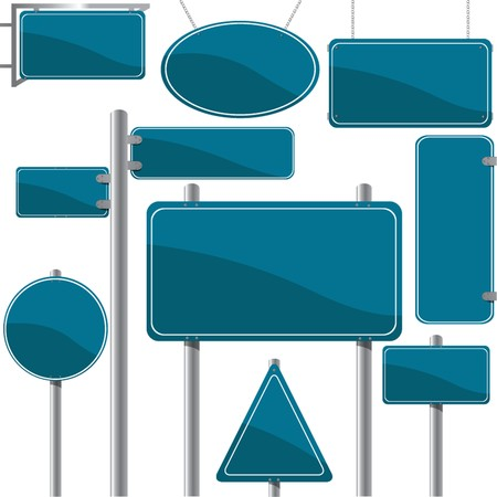 blank road sign: Direction and advertise signs