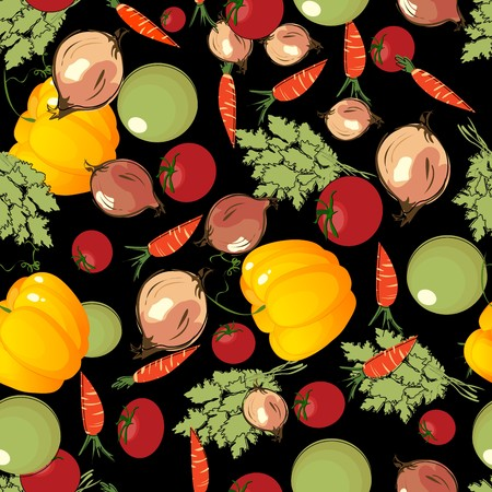 Saemless background with vegetables, pattern