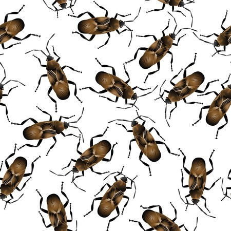 Background with crawling cockroaches. Pattern Stock Photo - 8084577