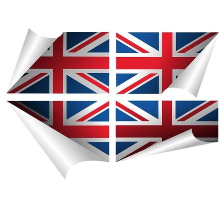 union: Bandiera britannica arricciata carta adesivo