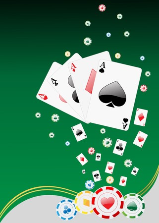Casino background with gambling elements