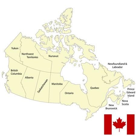 ontario: Mappa dettagliata del Canada