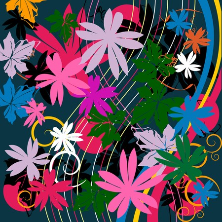 Floral composition, abstract art Vector