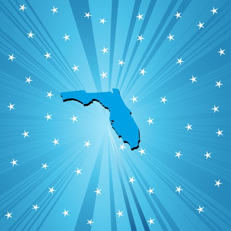Blue  Florida  map, abstract background for your design Vector