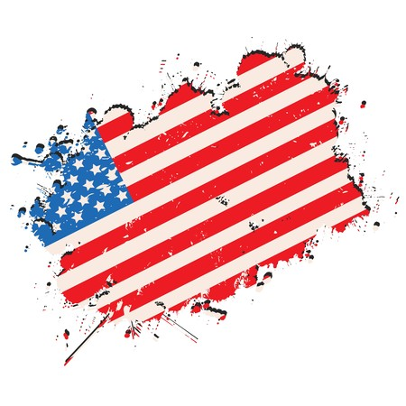 United States of America flag in grunge style Stock Vector - 8104216