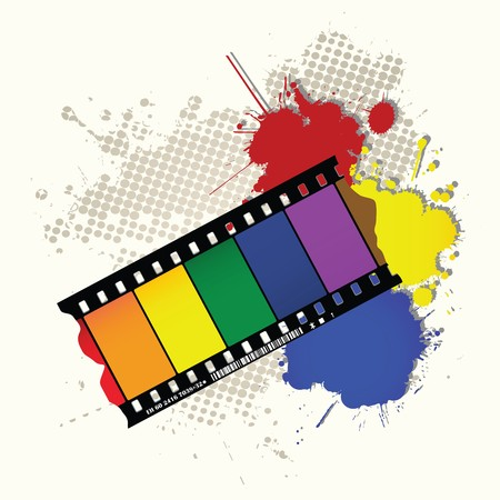 movie film: Abstract colorful background