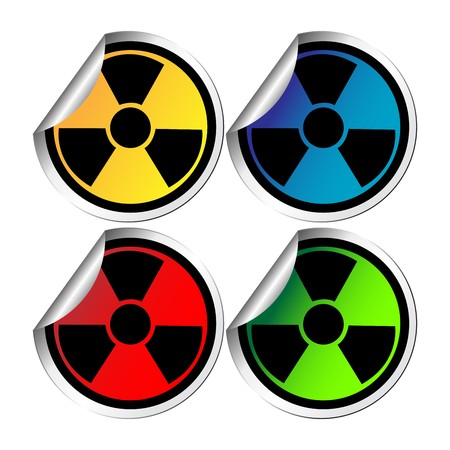 Hazzard warning stickers against white background Stock Vector - 8104073