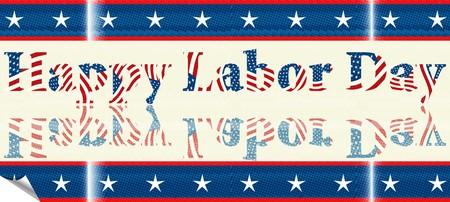Labor Day sticker Vector