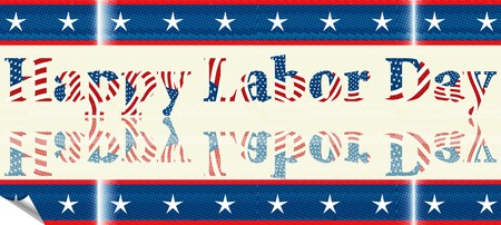 Labor Day sticker Vector