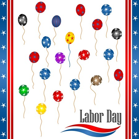 star spangled: Labor day background illustration