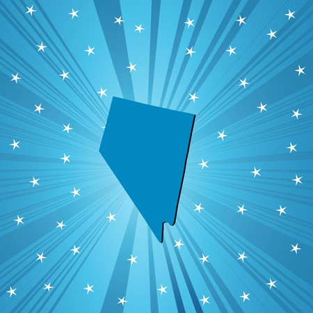 deisgn: Blue Nevada map, abstract background for your design