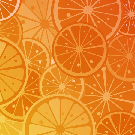 Orange slices background Stock Vector - 8104153
