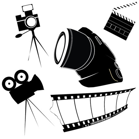Photography and film making related icons Vector