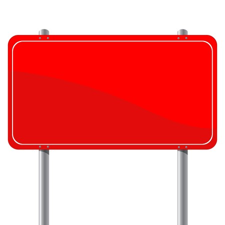 Red billboard, isloated object over white background Stock Vector - 8104069