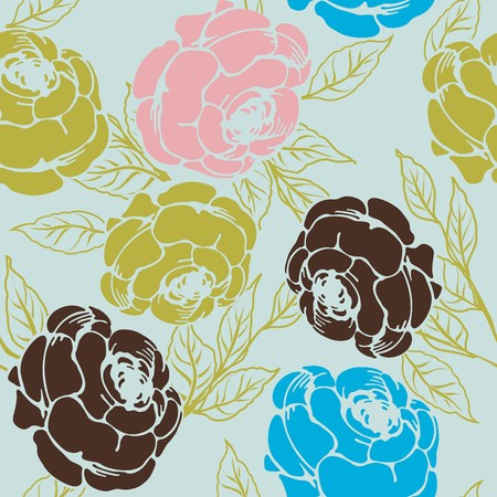 Seamless background with roses, pattern Vector