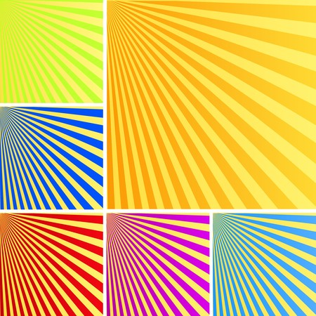 Sun rays background in colors Vector