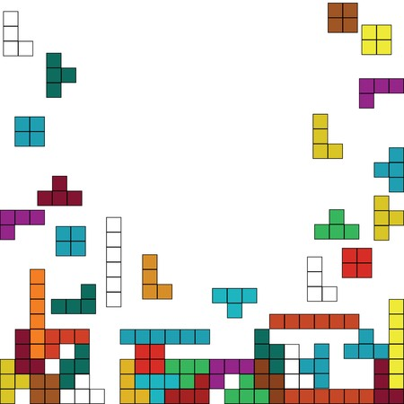 tetris: Color background with tetris design