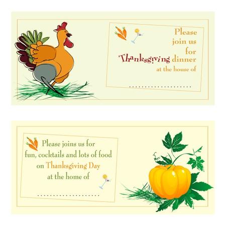 strut: Thanksgiving daydinner invitations against white background