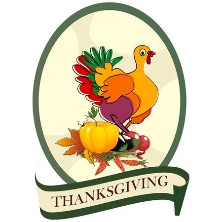 strut: Thanksgiving day turkey sticker