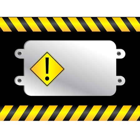 Warning sign on a polish metal plate Stock Vector - 8104286