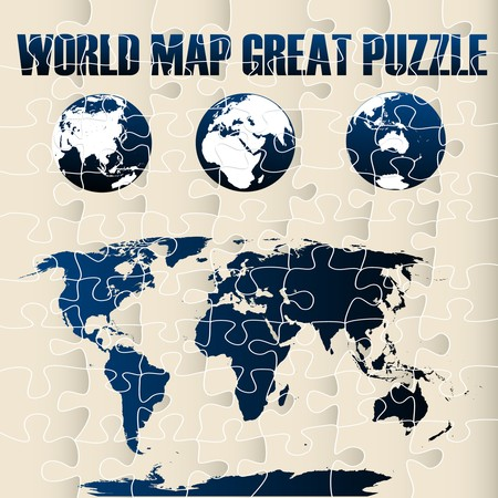 World map puzzle Stock Vector - 8104189