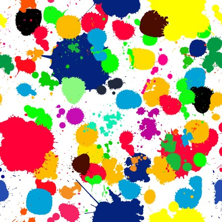 Seamless background with ink splats for your design, no meshes or gradients