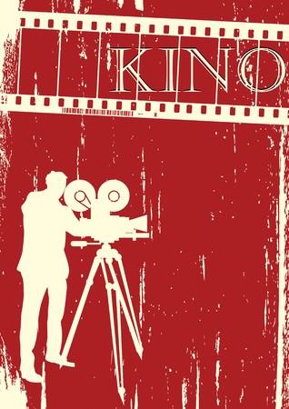 Cinema, movie poster  layout, grunge background Stock Photo - 8169947