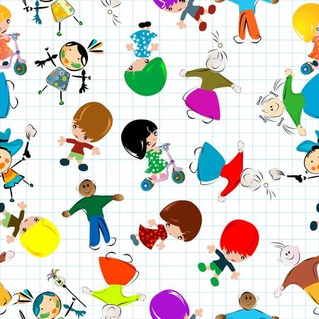 Pattern with children photo